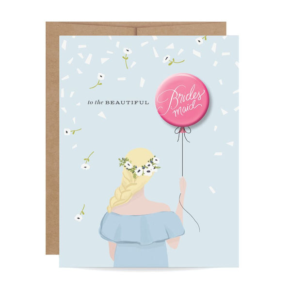 Bridesmaid Button Card