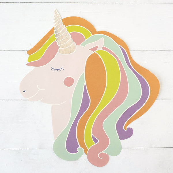 Die Cut Unicorn Placemat