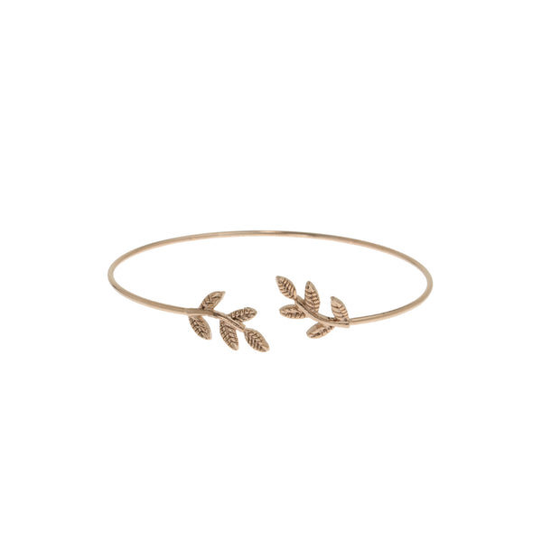 Laurel Leaf Delicate Bangle Theia - Cork Collection