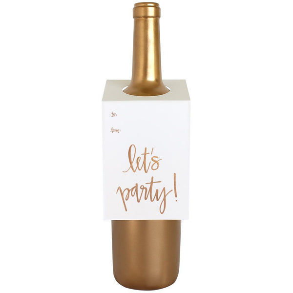 Let's Party Wine & Spirit Tag By Chez Gagne