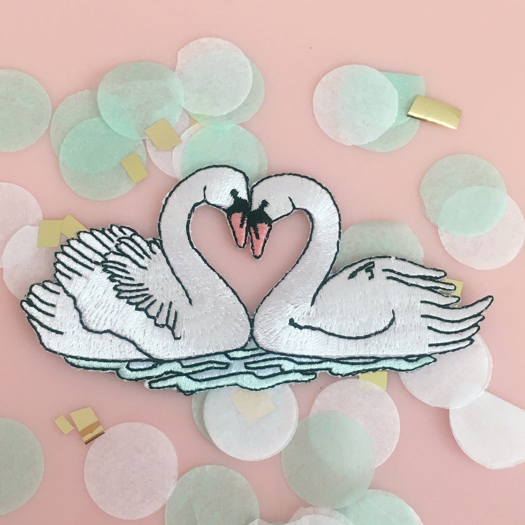 Love Swans Patch Wildflower + Co - Cork Collection