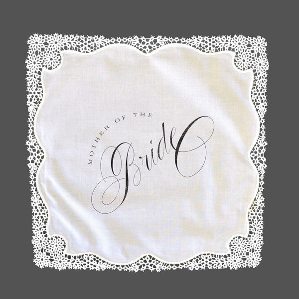 Lace Mother of the Bride/Groom Handkerchief Fairgoods - Cork Collection