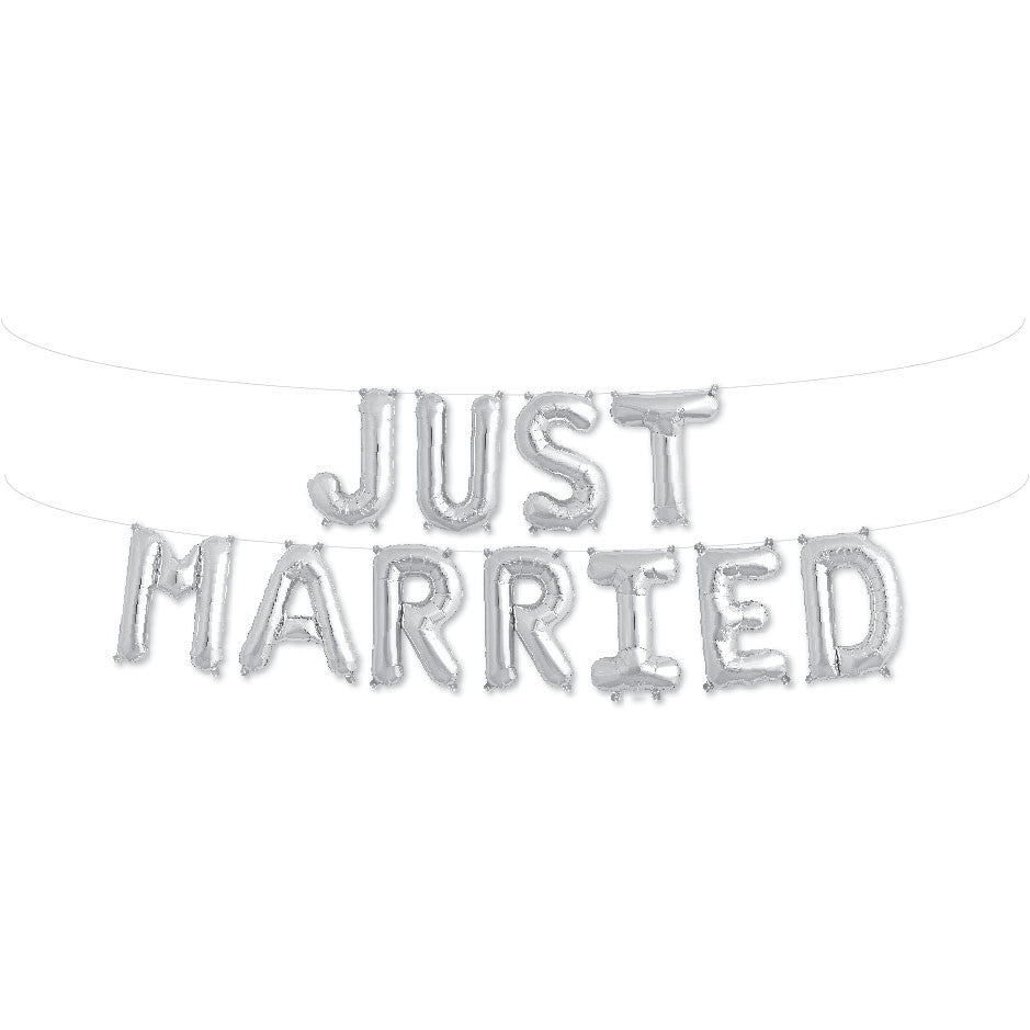 Just Married Balloon Kit North Star Balloons - Cork Collection