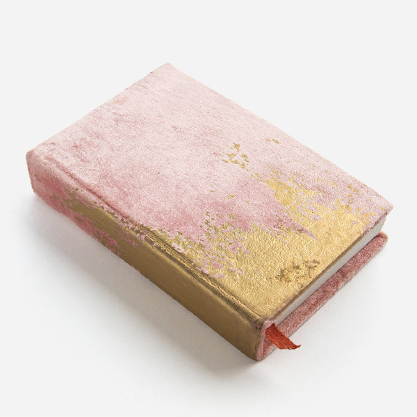 Abstract Daybreak Small Velvet Journal Printfresh - Cork Collection