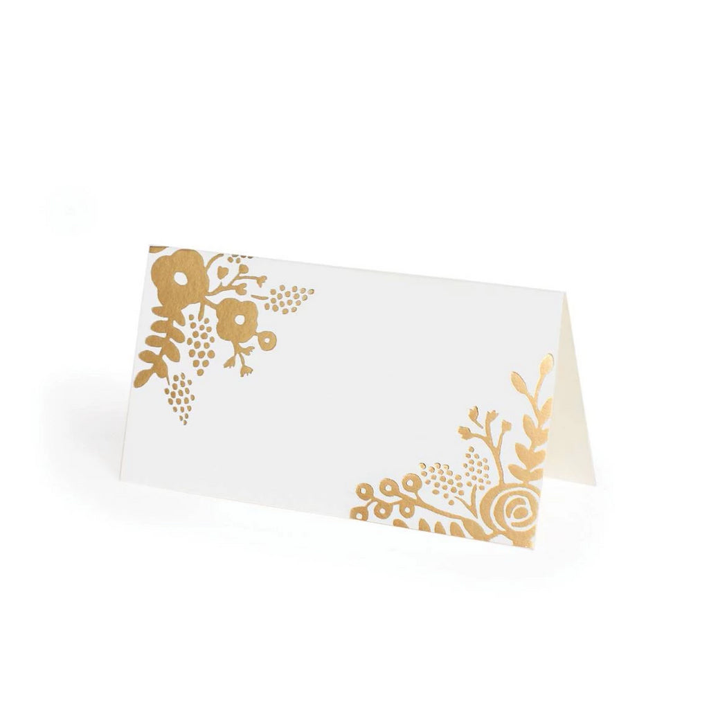 Gold Lace Place Cards