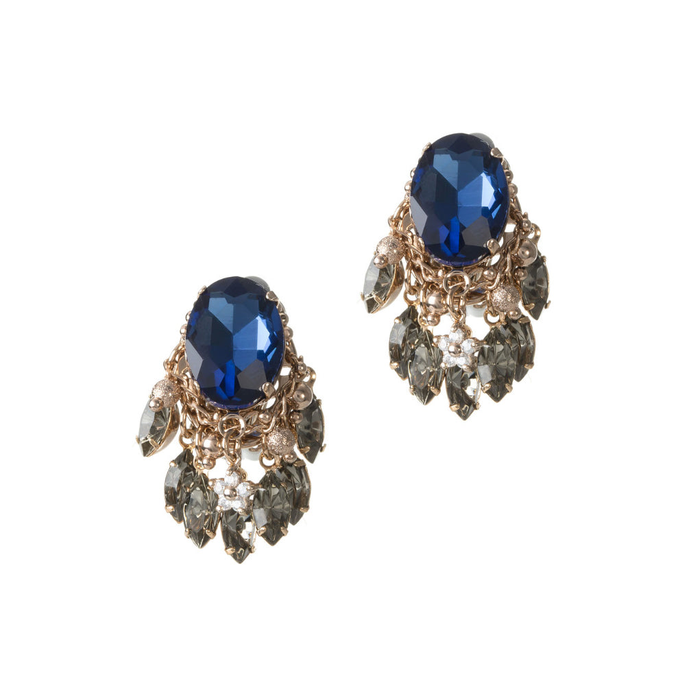 Oval Sapphire Earrings