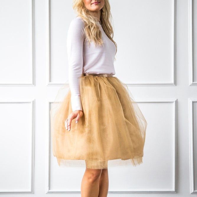 Signature Tulle Skirt - These Tulle Skirts are the perfect bachelorette party attire for the bride & her bridesmaids!