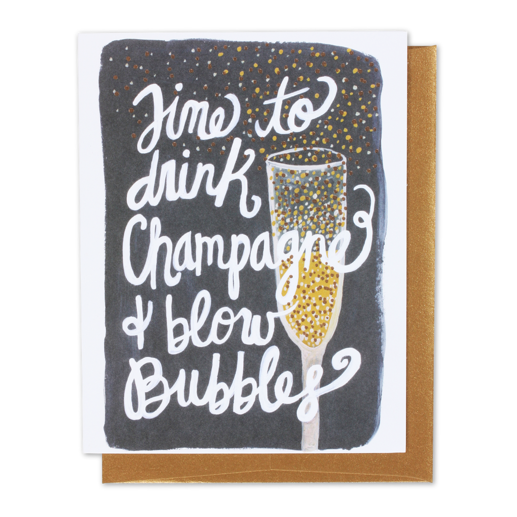Champagne & Bubbles Card