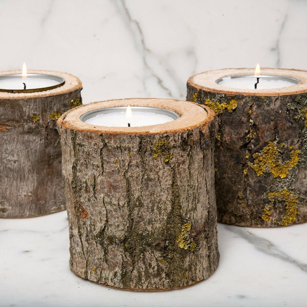 Black Forest Log Candle