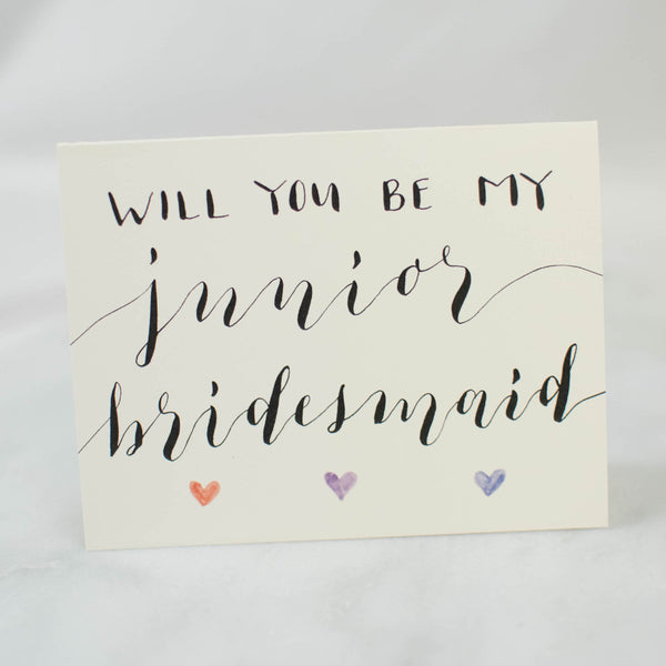 Will You Be My Junior Bridesmaid? Card WritefullyHis - Cork Collection