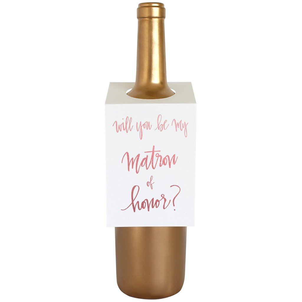 Matron of Honor Wine & Spirit Tag By Chez Gagne Chez Gagne - Cork Collection