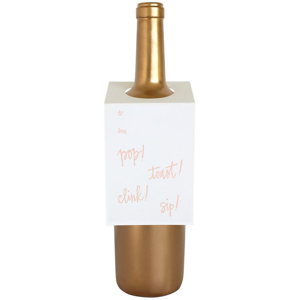 Pop Toast Clink Wine & Spirit Tag By Chez Gagne