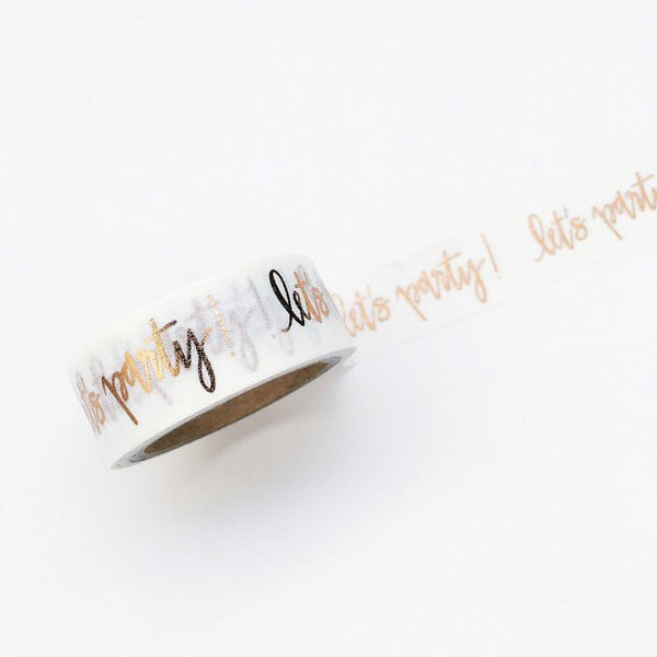 Let's Party Washi Tape By Chez Gagne