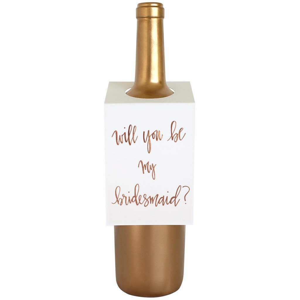 Bridesmaid Wine & Spirit Tag By Chez Gagne