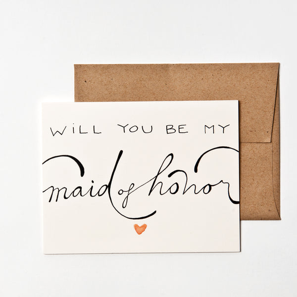 Will You Be My Maid/Matron of Honor? Card WritefullyHis - Cork Collection