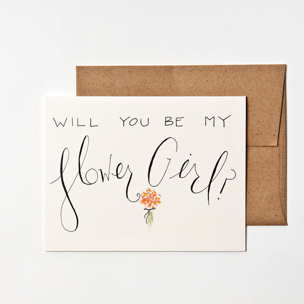 Will You Be My Flower Girl? Card WritefullyHis - Cork Collection