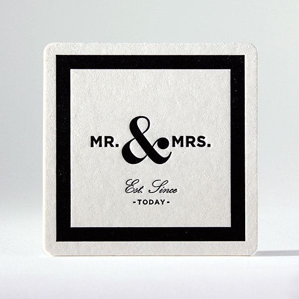 Classic Mr & Mrs Coasters