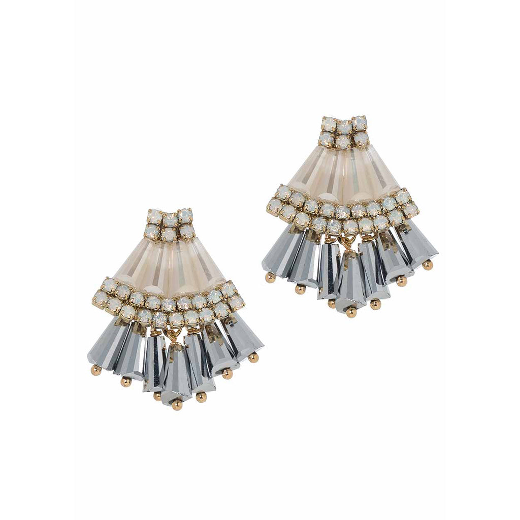 Barrel Cut Swarovski Earrings Theia - Cork Collection