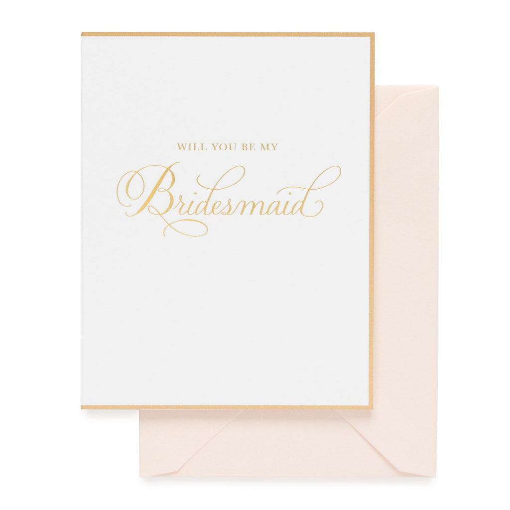 Be My Bridesmaid Traditional Card
