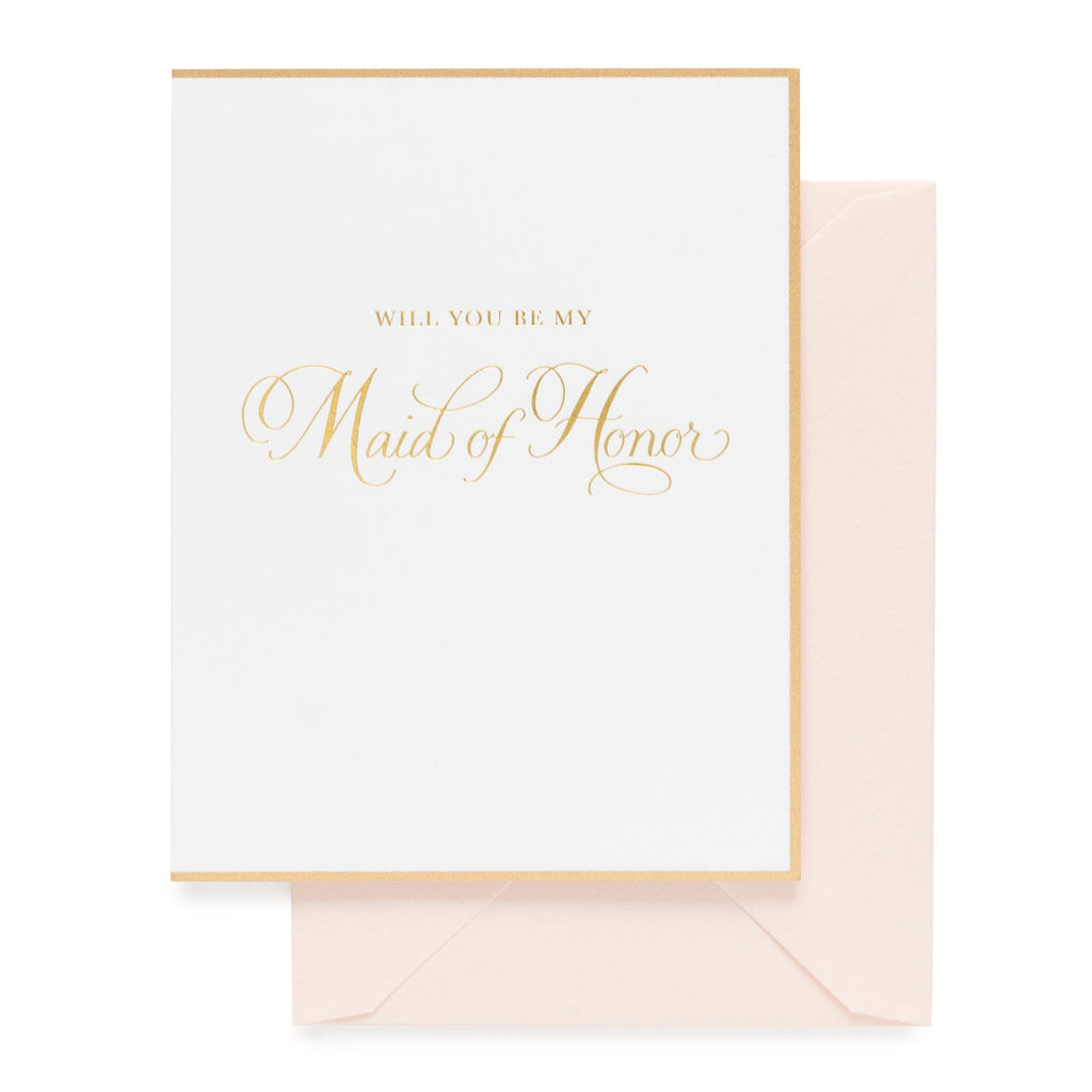 Be My Maid of Honor Traditional Card