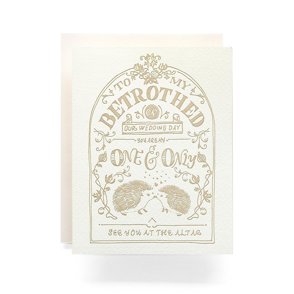 Betrothed Crest Card Antiquaria - Cork Collection
