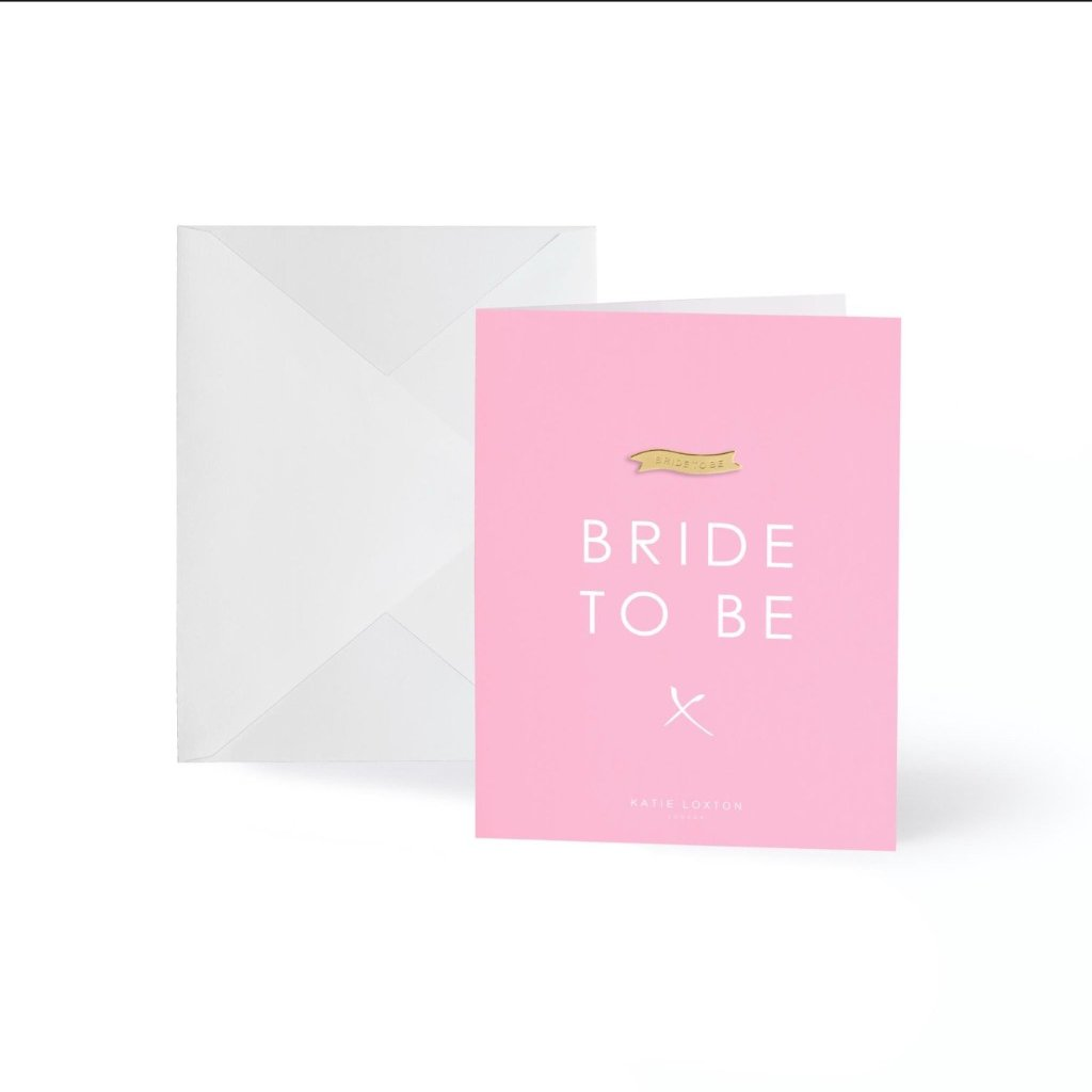 Bride to Be Gold Badge Greeting Card
