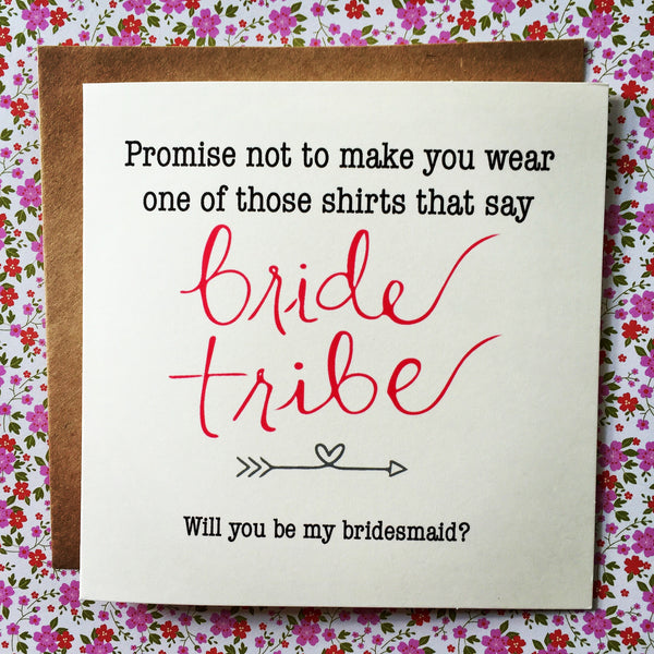Bride Tribe Tee Card