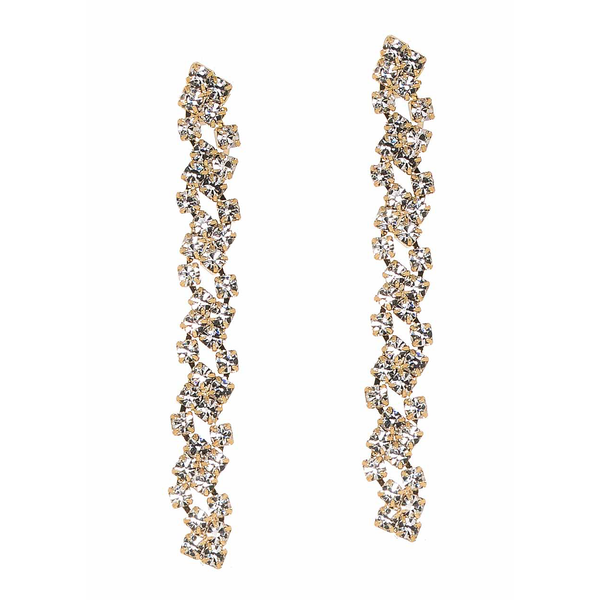 Gold Cascading Linear Drop Earrings Theia - Cork Collection