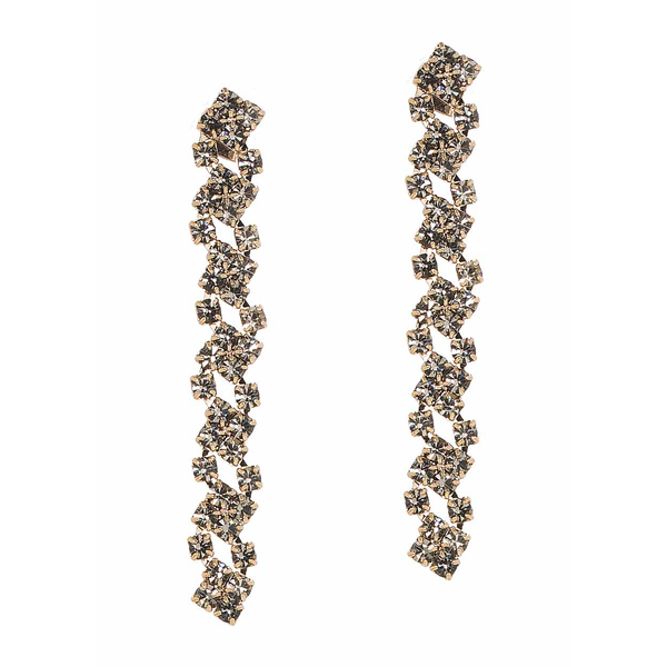Antique Gold Cascading Linear Drop Earrings Theia - Cork Collection