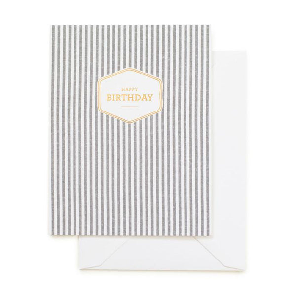 Fabric Striped Birthday Card