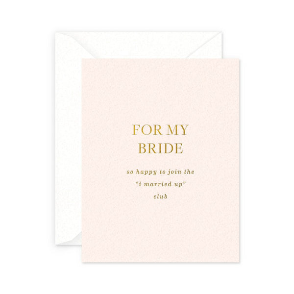 For My Bride Card
