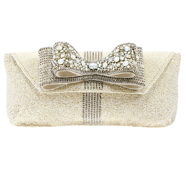 Crystal Bow Handbag - Bridal Handbag