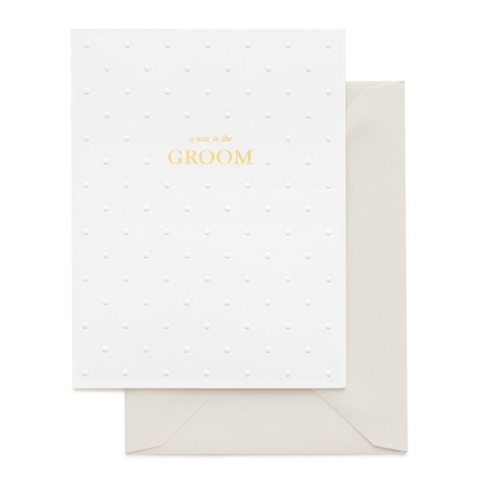 Note To Groom Card