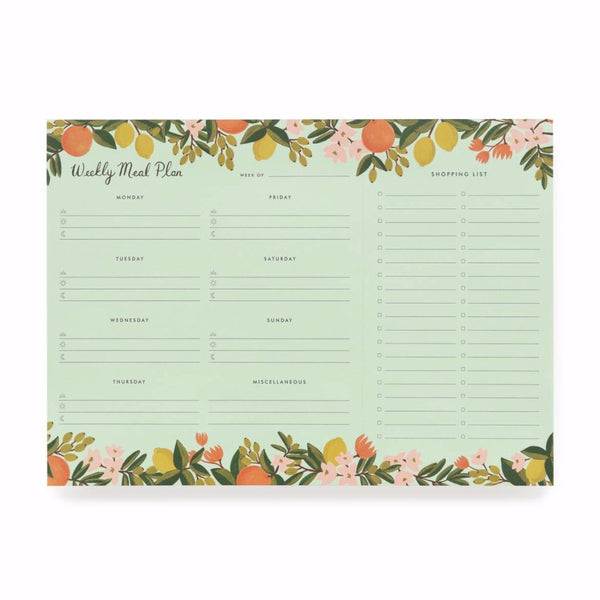 Citrus Floral Meal Planner Rifle Paper Co. - Cork Collection