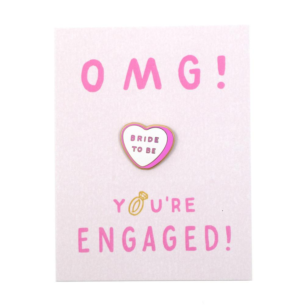 OMG You're Engaged Card and Pin