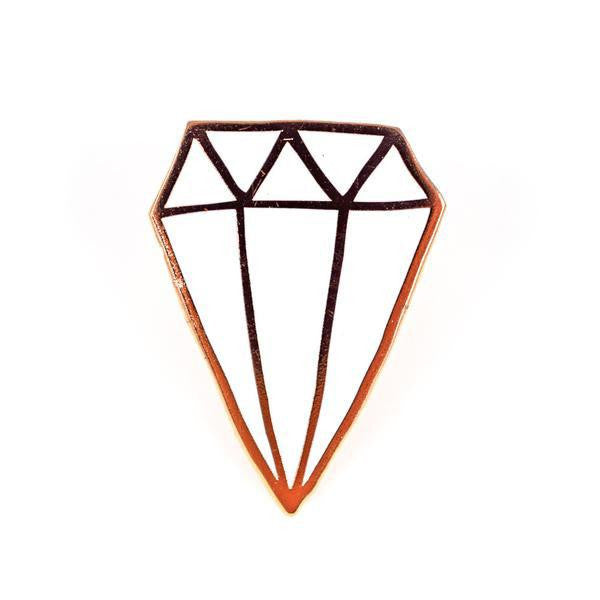 Diamond Emoji Pin