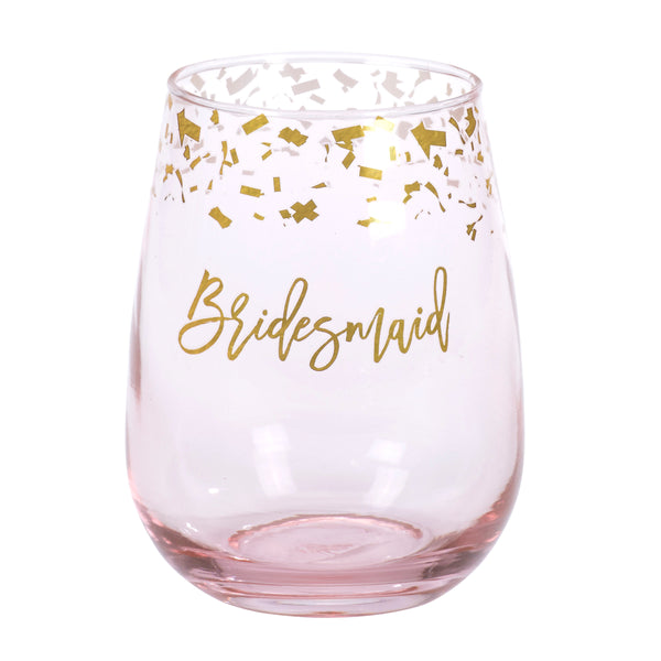 Bridesmaid Stemless Wine Glass