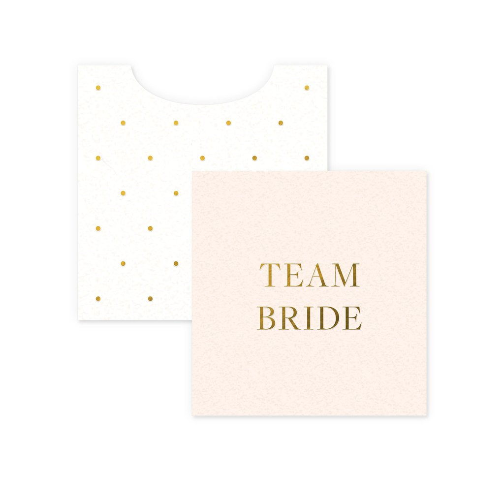team bride mini enclosure card