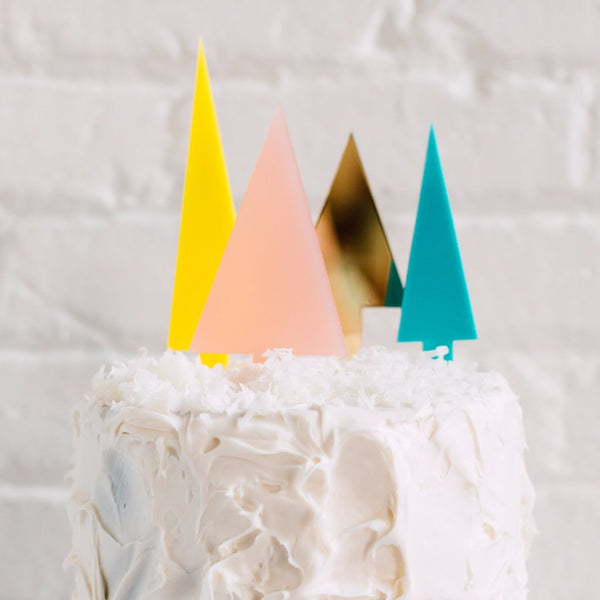 Pointed Tree Cake Topper