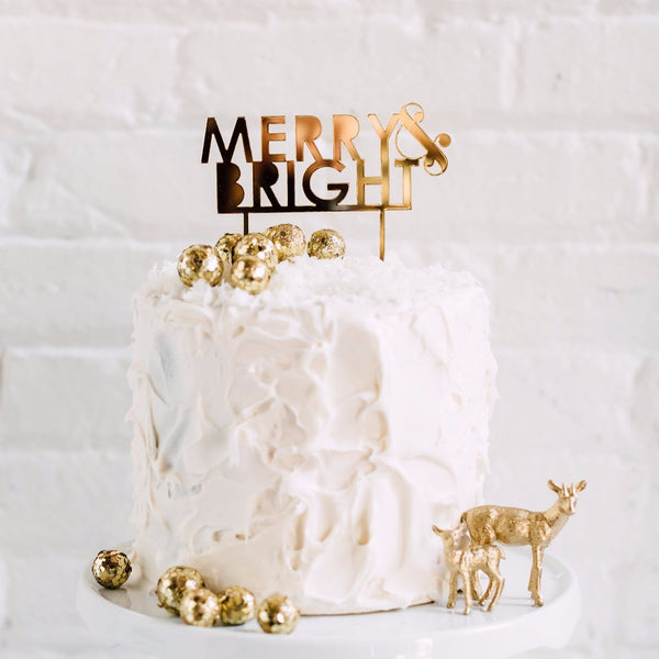 Merry & Bright Cake Topper