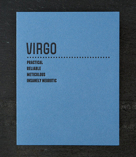 Zodiac Letterpressed Cards Sapling Press - Cork Collection