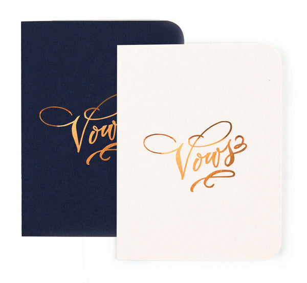 Gold Foil Vows Notebook Antiquaria - Cork Collection