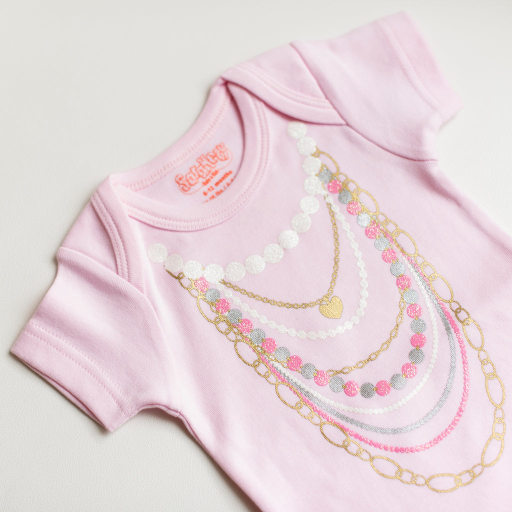 Pink Necklaces Onesie