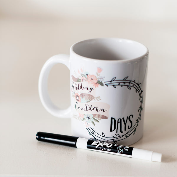 Wedding Countdown Mug Z Create Design - Cork Collection