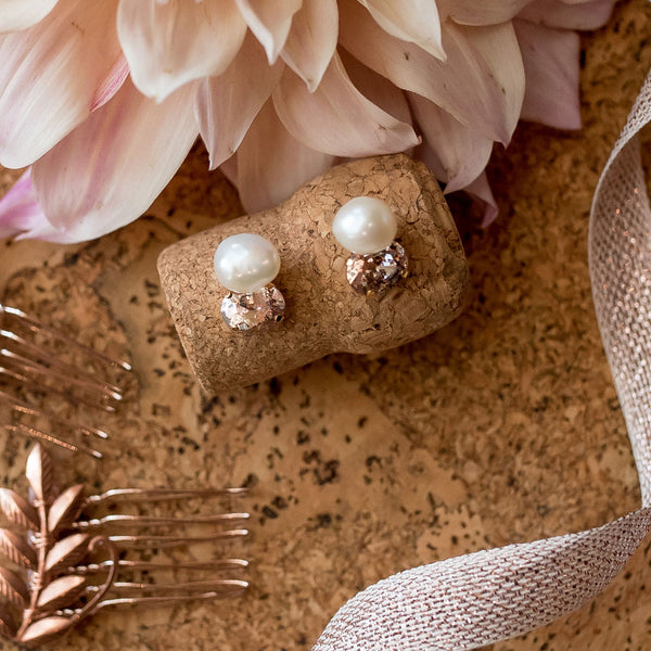 Petite Baroque & Crystal Post Earrings