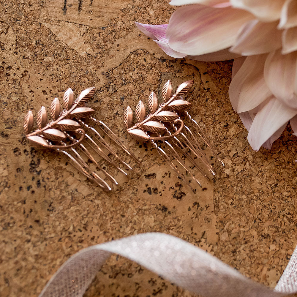 Laurel Leaf Mini Combs