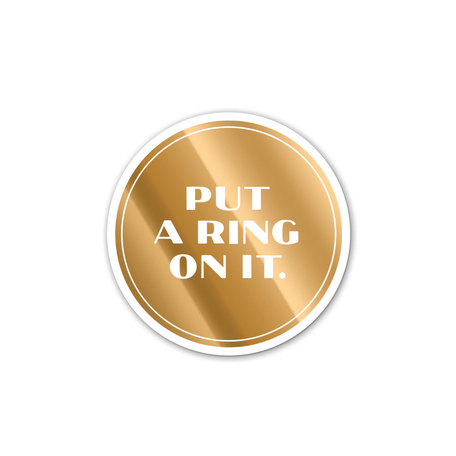 Put A Ring On It Coaster Set Hallmark Home & Gifts - Cork Collection