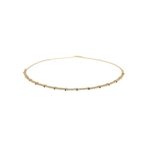 Blue Sapphire Eternity Bracelet - Gold Theia - Cork Collection