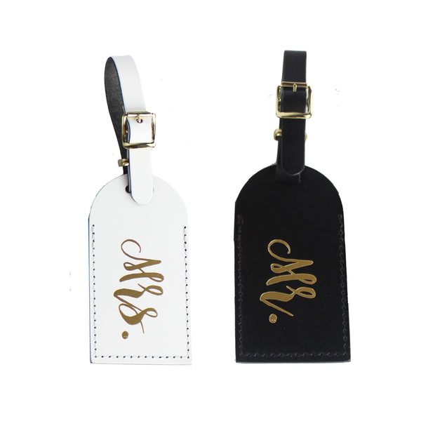 Mr. & Mrs. Luggage Tag Set