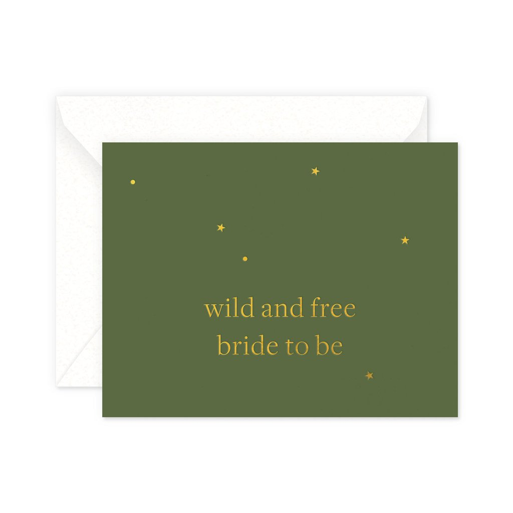 wild and free bride to be card